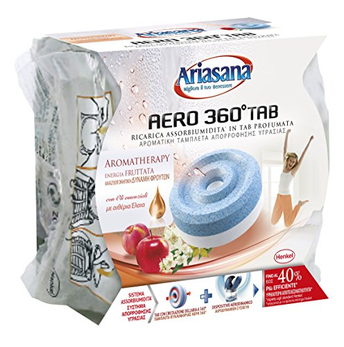 Ariasana 2091843 Aero 360 Tablette de recharge pour absorbeur d'humidité, parfum Fruit Energy, Orange, 450 g