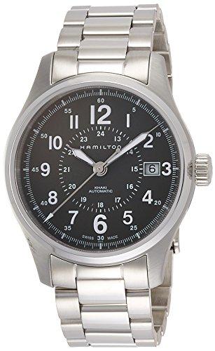 Hamilton Herren Analog Automatik Uhr mit Edelstahl Armband H70595163