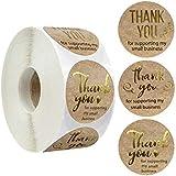Lot de 500 autocollants adhésifs « Thank You » – Goodchanceuk – 25 cm – ronds pour cadeaux de remerciement – Pour cadeaux fai