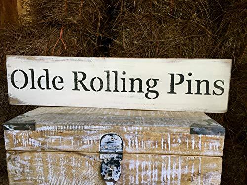 Olde Rolling Pins Schild Bakery Wood Art Antique Store Sign Backen Wall Art Rolling Pin Wall Sign Farmers Market Sign Rolling Pin Bakery