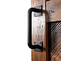 Drawer Pulls Industrial Sliding Barn Doors Handle | Black Iron Pull Handle, Bow Handle Boat Handles Handrail Grab Bar Hardware for Gates Garages Sheds Wooden Doors Homyl 4 Pairs Black Single Hole Roun