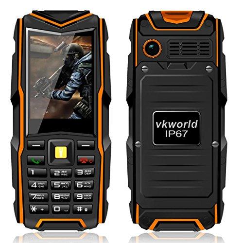 Preisvergleich Produktbild Omiky® Mode 2017 VKworld Stein V3 IP67 imprägniern stoßfestes staubdichtes Handy-Energien-Bank-langes Standby-im Freienarmee 5200mAh 64MB RAM + 64MB ROM GSM Netz (Orange)