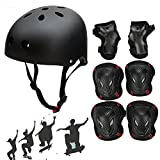 SymbolLife Skateboard / Skate Helmet with Protective Gear Knee Pads Elbow Pads Wrist Guards