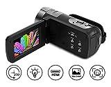 Videokamera Camcorder Full HD 1080p 24.0MP Webcam 16x Digitalzoom 3 Zoll Bildschirm HDMI-Ausgang mit...