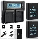 2x Blumax Akku für Nikon EN-EL14 / EN-EL14a 1050mAh + Doppelladegerät für EN-EL14 / EN-EL14a Dual Charger |kompatibel mit Nikon DF-D3100-D3200-D3300-D3400-D5200-D5300-D5400-D5500 | Coolpix P7000-P7100-P7700-P7800
