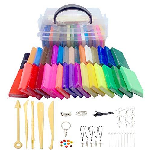 Xrten Kit Arcilla Polimérica Colores 32 DIY Modelado