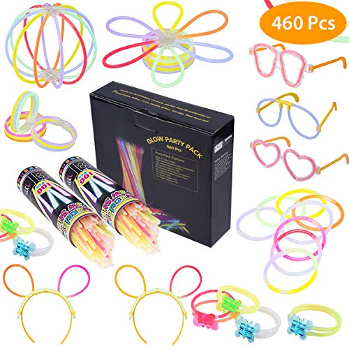 Imagen de 200pcs pulseras luminosas fiesta glow pulseras con los conectores 7 colores barras luminosas, pulseras, collares, gafas, bolas luminosas, flores para decoración de fiesta, cumpleaños y vacaciones