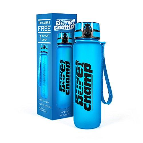 PureChamp Sportflasche Trinkflasche 1000ml im Test