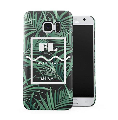 South Beach Florida Miami Paradise Tropisch Palme Dünne Handy Schutzhülle Hardcase Aus Hartplastik Hülle für Samsung Galaxy S7 Handyhülle Case Cover