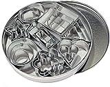 Let's Cook - Set da 24 tagliabiscotti, 8 modelli in 3 dimensioni