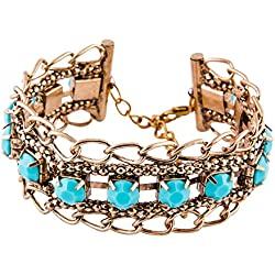 Habors Blue Vintage Gemstone Bracelet for Women