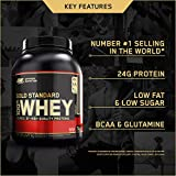 Optimum Nutrition Gold Standard Whey Muscle Building and Recovery Protein Powder with Glutamine and Amino Acids, Double Rich Chocolate, 74 Servings, 2.27 kg