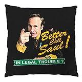 style3 Better Call Saul! Cojín con relleno 28 × 28 cm funda de algodón