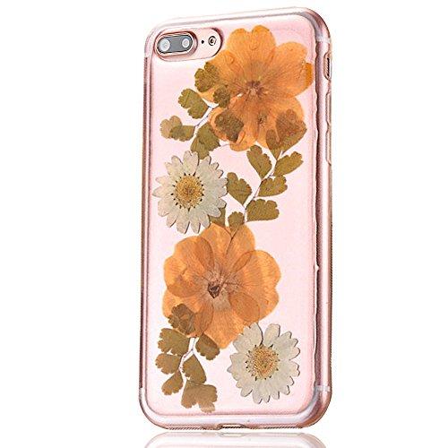 """iPhone 7Plus Schutzhülle, iPhone 7Plus Soft TPU Handytasche, CLTPY Modisch Durchsichtige Rückschale im Getrocknete Blumenart, [Stoßdämpfung] & [Kratzfeste] Full Body Case für 5.5"""" Apple iPhone 7Plus ( Floral 11"""