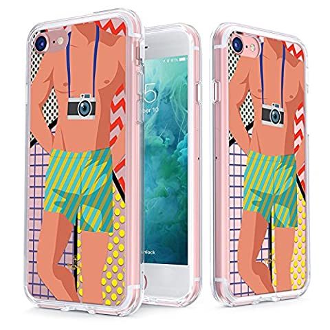 True Colour Clear Shield Summer Time Collection, Camera Beach Boy, For iPhone 7