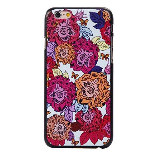 MOONCASE iPhone 6 6S Coque, Slim Fit Hardshell Back Coque Etui Case Cover pour iPhone 6 6S [Arbres] fleurs papillon