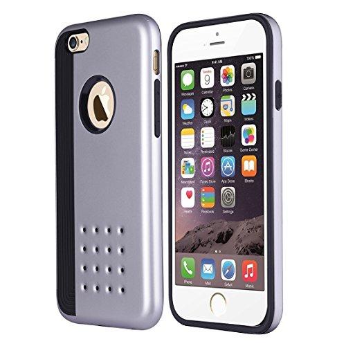 Für iPhone 6 Plus & 6s Plus Cookies Patterns Dual-Layer Tough Armor Dual Layer TPU + PC Kombi-Gehäuse Rückseite by diebelleu ( Color : White ) Silver