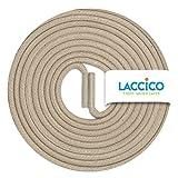 LACCICO Finest Waxed Laces® Durchmesser 2 mm Runde Dünne Elegante Gewachste Schnürsenkel Länge: 45 cm Farbe: Helltaupe