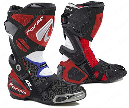 FORMA ICE PRO FLOW REPLICA PETRUCCI MOTO GP stivali nero/rosso/blu 43