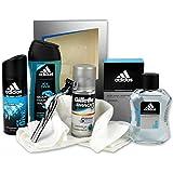 Unbekannt Geschenk-Set für Männer Ice Man mit Duschgel & Deo sowie Aftershave inklusive Gillette Rasierer und Rasiergel