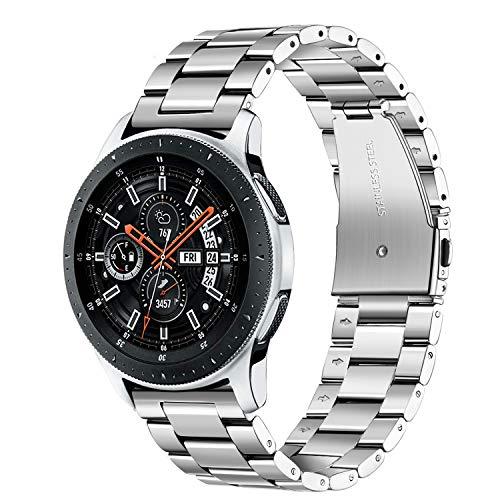 TRUMiRR Armband kompatibel mit Huawei Watch GT/Galaxy Watch 46mm/ Gear S3 Armband, 22mm Edelstahl Uhrenarmband Metall Armband Ersatzband für Samsung Galaxy Watch 46mm, Gear S3 Frontier/Classic