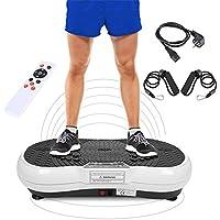 Preisvergleich für Flyelf 200W Vibration Plate,Vibrationsplatte Fitness Trainingsgerät mit Trainingsbänder und Fernbedienung
