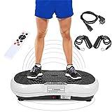 Wefun Fitnessplatte Vibrationstrainer, für Den Büro-Wohnzimmer, Vibrationsplatte Body-Shaper der Eignungs-Ausrüstung Abnimmt (Schwarz-Weiss)