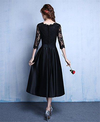 Drasawee - Robe - Trapèze - Femme Noir