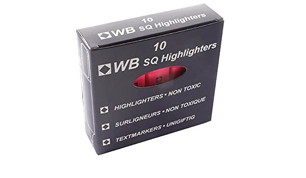 Whitebox Pink Hi-Glo Highlighter HI2717 819128 Pack of 10