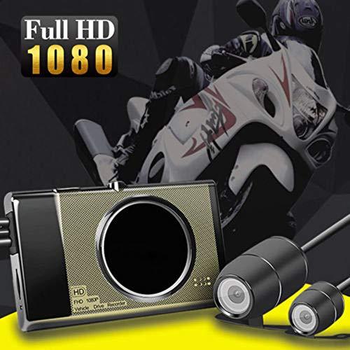 P HD Motorrad Action Dual Kamera Videorecorder 125 ° Weitwinkelobjektiv Nachtsicht Kamera Vorne und Hinten Wasserdicht ()