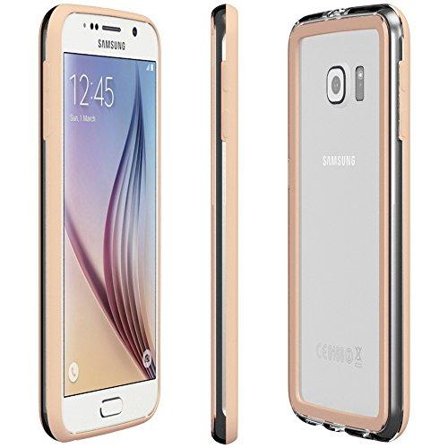Samsung Galaxy S5 Mini Hülle - EAZY CASE Premium Bumper Handyhülle aus Silikon - Ultra Slim Schutzhülle für das Smartphone in Rosa Hellbraun