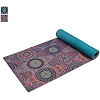 Trideer Extra Thick Yoga Mat, Reversible Premium Printed Non-Slip Anti-Tear 6mm Floor Pilates Exercise Mat for Yoga, Workout, Fitness, Camping, Physio, Home-use, Sports, Stretching with Carry Strap