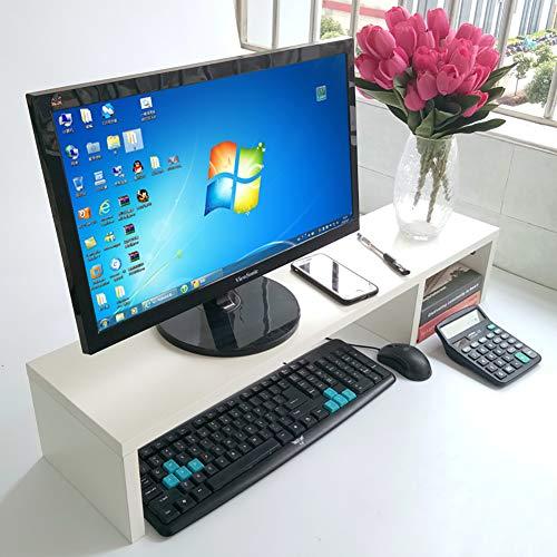 KKLTWU Holz Bildschirmständer Verstellbarer, 2 Dritte Platzsparende Multifunctional Organizer Stauraum Monitor Ständer Für Büro Drucker-weiß 80x15cm(31x6inch) (Stationären Papier Drucker)