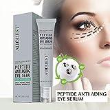 Luckine Peptide Augencreme Anti-Falten-Anti-Aging-Reparatur Anziehen schlaffe Haut & Reduzierung Augenringe Augencreme 20g