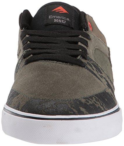 Emerica Herren the Hsu Low Vulc Skateboardschuhe, Schwarz green/black/white