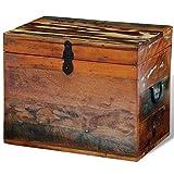 FZYHFA Premiumqualität Speicher-aus recyceltem Holz Solide 39x 28x 31cm (L x B x H) Aufbewahrungsbox