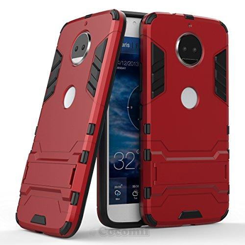 Alle Metro Pcs Handys (Motorola Moto G5S Plus / G6 Plus Hülle, Cocomii Iron Man Armor NEW [Heavy Duty] Premium Tactical Grip Kickstand Shockproof Hard Bumper Shell [Military Defender] Full Body Dual Layer Rugged Cover Case Schutzhülle XT1806/2/3/4/5 (Red))
