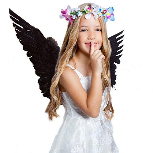 al Kostüm Feder Flügel für Kinder 45 * 35 cm Schwarz (Schwarze Feder Flügel Kostüm)