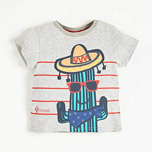 DFEIPING Summer Toddler Kids Tees Cartoon Cotton Baby Boys Girls T Shirts Short Sleeved Casual Dinosaur Rainbow Children Clothing T-Shirts,Print 19,18M - Ihre Tee Time-t-shirt