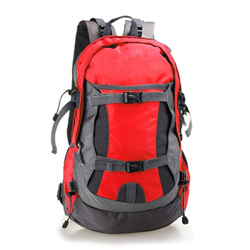 Nylon Trekking Schulter Tasche Faltbar Bergsteigen Tasche 40L Red