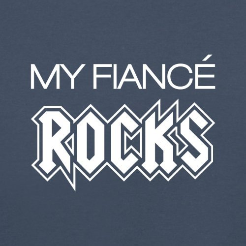 My Fiancé Rocks - Herren T-Shirt - 13 Farben Navy