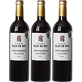 DOMAINE PLAN DU ROY France Vins du Sud Ouest MDC Vin Rouge Languedoc la Clape AOP 2015 75 cl - Lot de 3
