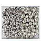 Spiegelbeeren Glaskugeln - Silber - 144 Stk. 25mm Weihnachtsbaumkugeln