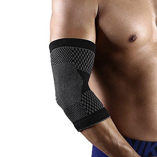 Leichtathletik Ellenbogen Kompressions Brace Unterstützung für Laufen/Jogging/Sport/Gelenkschmerzen zu lindern Arthritis und Verletzungen Recovery grau grün Single 1PCS