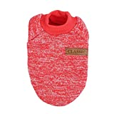 Für 2-12kg Pet Bekleidung Overall für Hunde Katzen Sweater Klassische Puppy Jacke von Bornbayb