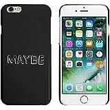 Negro 'Maybe' Funda / Carcasa para iPhone 6 y 6s (MC00035709)