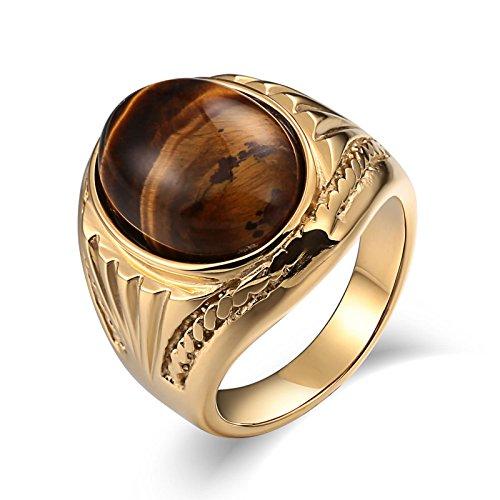 Aidsaer Ringe Gold Turkisch Ring Gold Herren Opal Oval Zirkonia Ringgröße 65 (20.7) Wedding Band,Always Be with You, Ring Für Junge