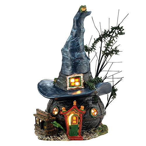 illage Halloween Toads and Frogs Witchcraft Haunt Lit House, 5.91-Inch by Department 56 ()