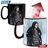 Game of Thrones - Keramik Thermoeffekt Tasse Riesentasse 460 ml - Jon Schnee - Winter is Here - Geschenkbox