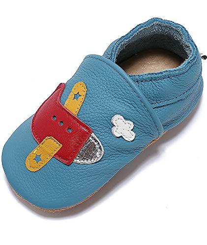 Mevimoi Chaussures Bebe Cuir Souple Pantoufles Garcons Filles
